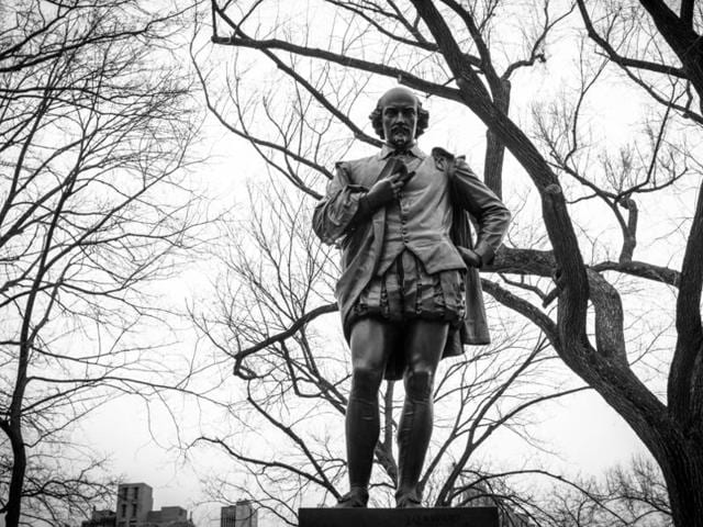 William Shakespeare's statue in New York's Central Park.