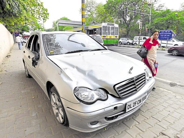 Mercedes hit and run case