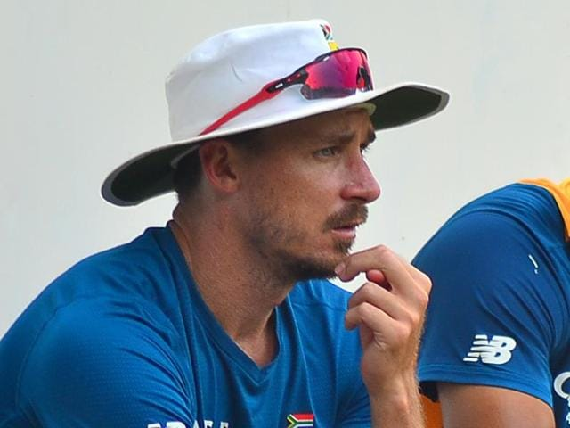 South African bowler Dale Steyn, also known as the 'Steyn Gun' definitely is not out of his jolly mood.