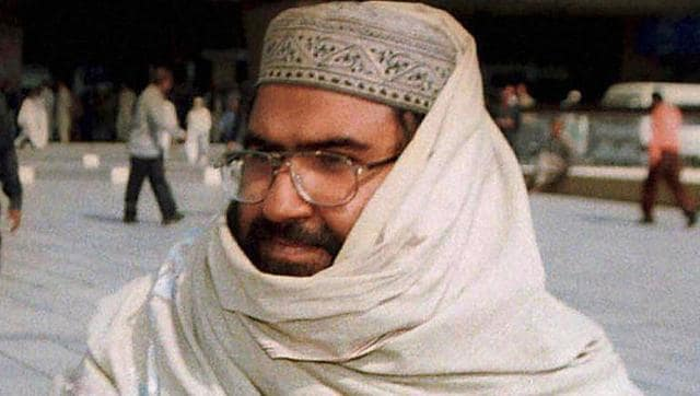 File photo of JeM chief  Maulana Masood Azhar arrives at the Karachi airport in Pakistan.  China has justified its decision to block India's bid to get Azhar banned by the UN.