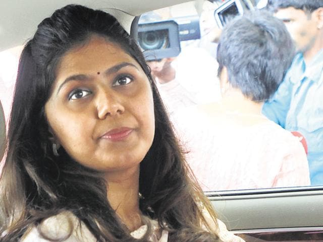 The Nationalist Congress Party (NCP) on Tuesday alleged that Munde said there was no need to stop supplying water to breweries and distilleries because of her husband's association with a distillery.