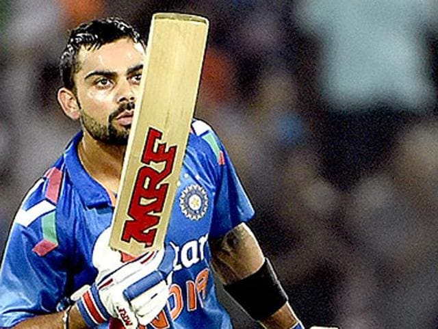 Virat Kohli (L) is all stroke play and sweet timing, skills in sharp contrast to the brute force needed in T20.