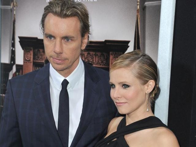 Dax Shepard with his wife actor Kristen Bell.