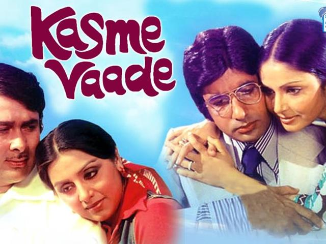 Amitabh Bachchan,Kasme Vaade,Bollywood