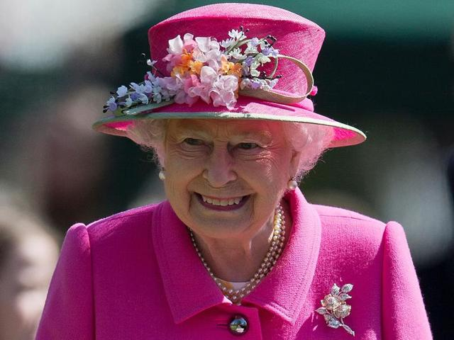 Queen Elizabeth very happy