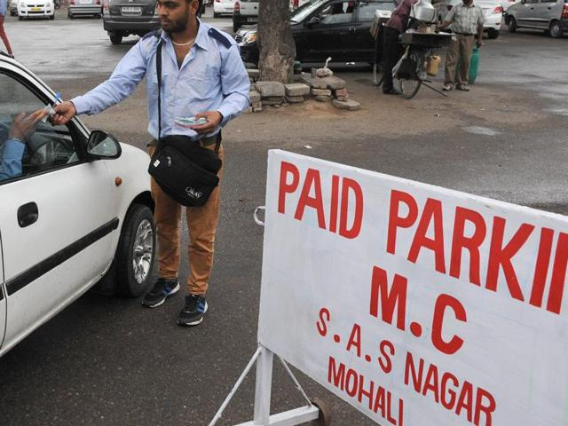At the Phase 9 and 10 parking lots, spectators were forced to pay fee ranging between Rs 50 and  Rs 100.
