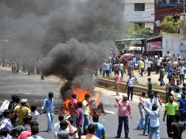 PF withdrawal restrictions,Protests over PF withdrawal norms,Bengaluru protests turn violent