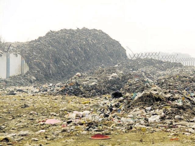 CGWA,Leachate lake,Bandhwari waste treatment plant