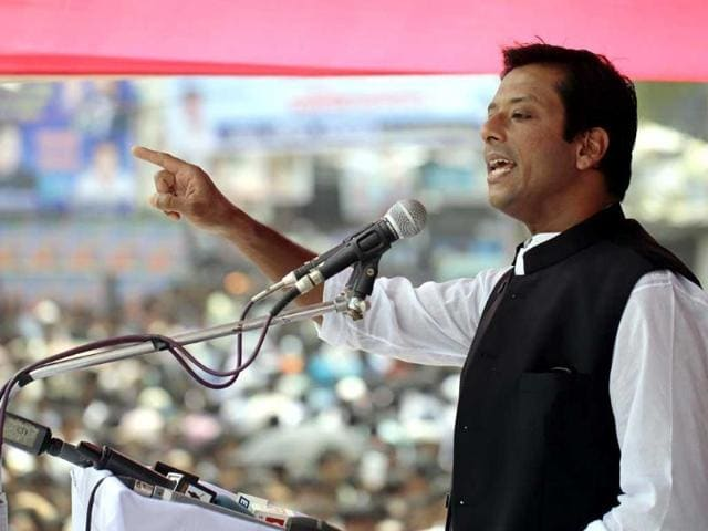 In this Sept. 15, 2013 photo, Sajeeb Wazed Joy, 42, the son of Bangladeshi PM Sheikh Hasina, speaks at an election campaign rally in Tongi, near Dhaka, Bangladesh.