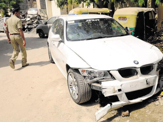 The police said they were scanning camera footage to identify the car in which Vinod allegedly fled after the accident.