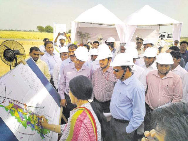 Ramesh Abhishek, secretary, Department of Industrial Policy and Promotion, inspected the site in Greater Noida this month.