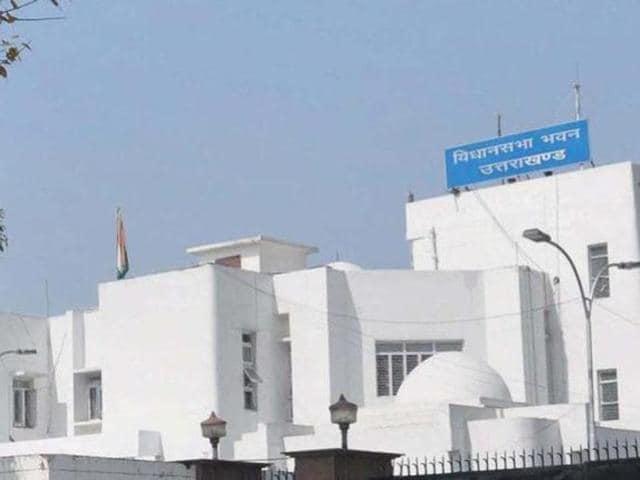 The Uttarakhand Assembly in Dehradun.