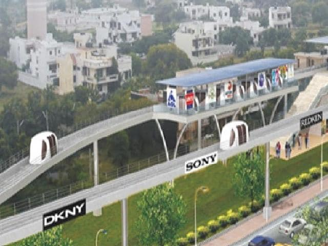 The National Highways Authority of India is seeking land from Haryana government to set up the personal rapid transport system in Gurgaon.
