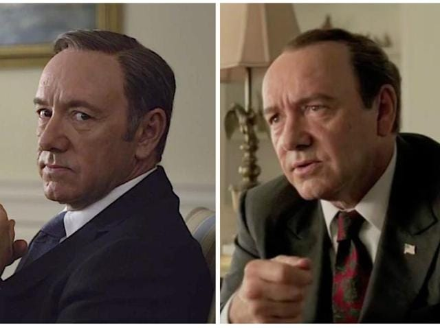 With Underwood and Nixon, Kevin Spacey really knows how to play shady Presidents now.