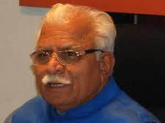 Around a thousand litres of water were reportedly used in preparing a helipad for Khattar's chopper in Yamunanagar on Wednesday.(HT File Photo)
