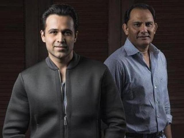 Actors Nargis Fakhri, Emraan Hashmi and Prachi Desai during the poster photo shoot of film Azhar in Mumbai on Thursday.