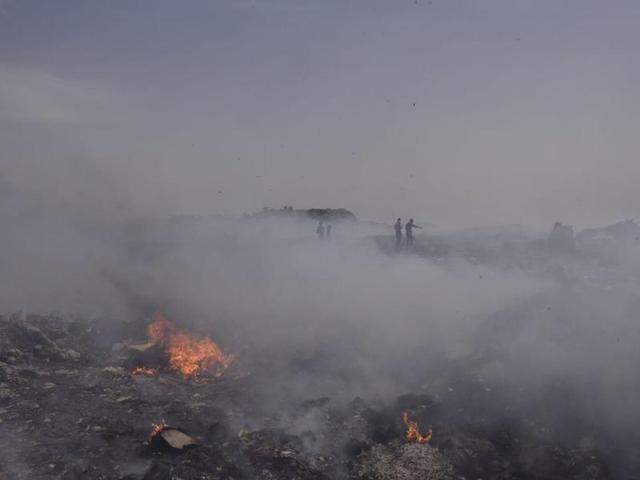 Bhalswa landfill on fire, AAP govt alleges sabotage