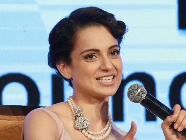 Kangana Ranaut during the CII young members conference, in New Delhi on March 26, 2016.