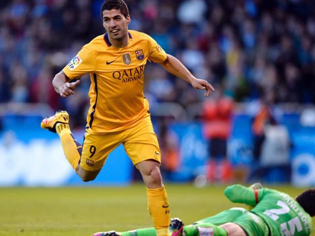Barcelona vs Deportivo la Coruna,Luiz Suarez,Barcelona 8-0 win