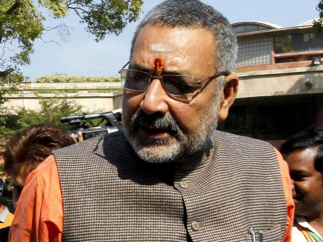 Union minister Giriraj Singh proposed on Thursday to revoke the voting rights of people with more than two children to control the population.