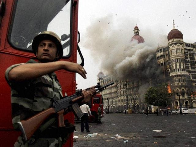 The Taj Hotel under attack in 2008 when the LeT terrorists attacked a number of places of Mumbai.