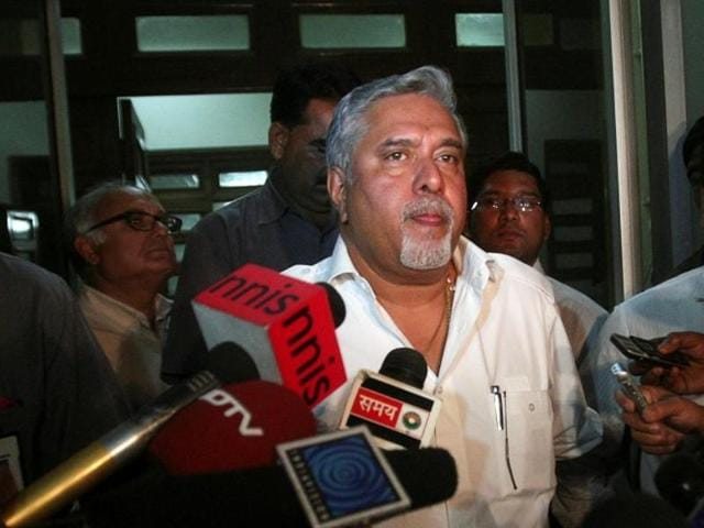 File photo of industrialist Vijay Mallya speaking with the media in New Delhi. A Hyderabad court convicted Mallya in a cheque-bouncing case on April 20, 2016.