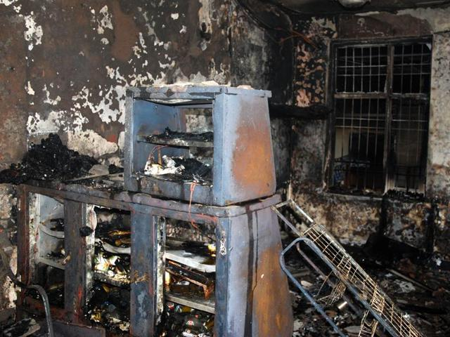 One of the injured admitted at the SAS Nagar civil hospital on Wednesday.