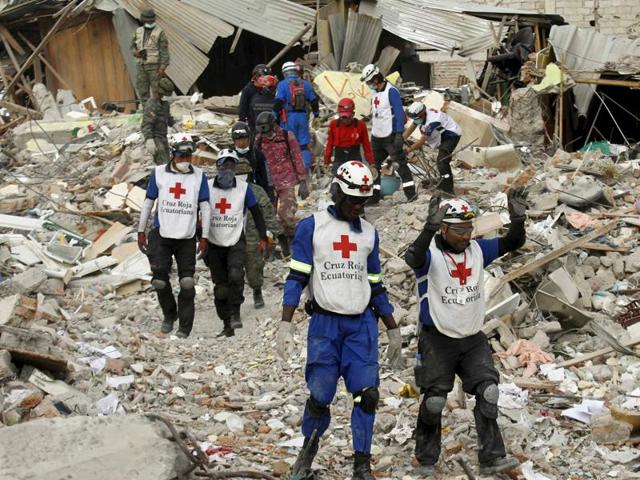 Ecuador's attorney general said on Wednesday that 553 people were killed during the quake.