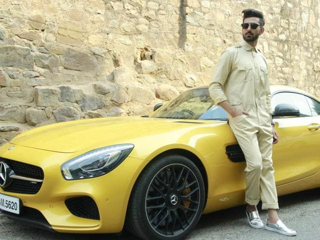 Jumpsuits are very much in this season. Outfit: designer Pawan Sachdeva; model: Anand Vohra; car courtesy: Mercedes-Benz India.