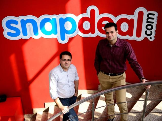 Rohit Bansal Co-founder & COO and Kunal Bahl, Founder & CEO of Snapdeal.
