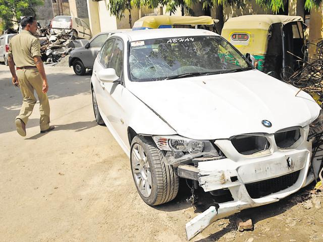 The accused, a Delhi resident, allegedly hit four people near Noida stadium, killing one and injuring three.