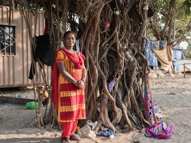 Three generations of the Kharva family — Radhi, 80; her daughter Lali, 40; and granddaughter Sonia, 17 — have lived on the streets for more than 60 years.  Mumbai sees many generations like these spend all of their lives living on the streets.