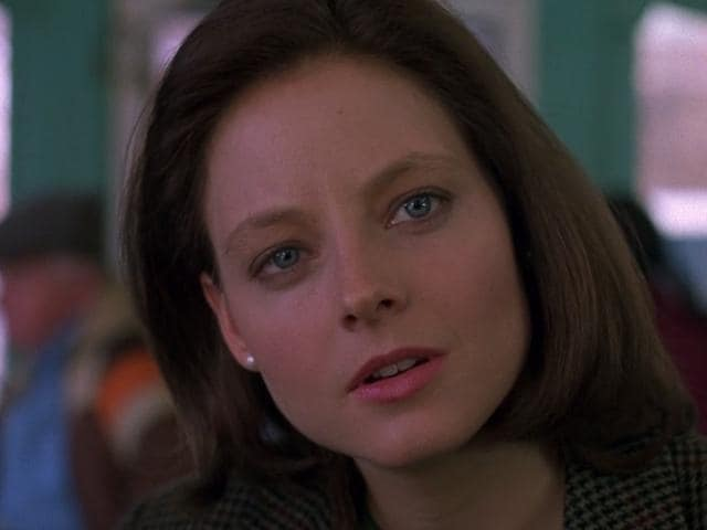 Jodie Foster in a still from Silence of the Lambs.
