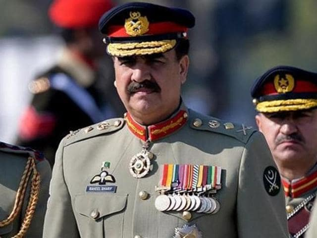 Pakistan Army chief Gen Raheel Sharif attends the change of command ceremony in Rawalpindi.