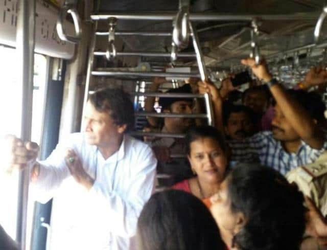 Just like most Mumbaiites, railway minister Suresh Prabhu on Thursday took a train to CST to avoid getting late for his appointment with chief minister Devendra Fadanvis at Mantralaya.