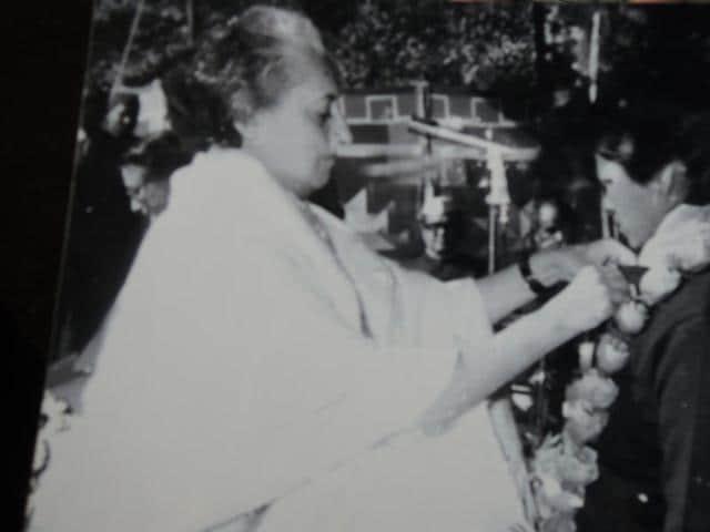 Saraswati Machiya, in Hoshangabad town on Wednesday, shows the bravery medals she won in 1973.