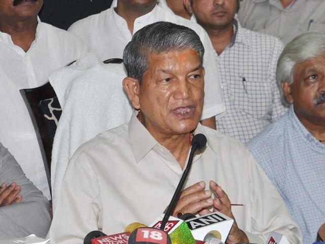 Harish Rawat addresses media in Dehradun after the Uttarakhand high court quashed the imposition of President's Rule in the state.