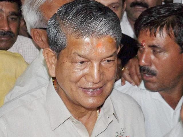 Ousted chief minister Harish Rawat