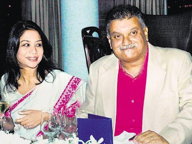File photo of Indrani Mukerjea and her husband, Peter Mukerjea.