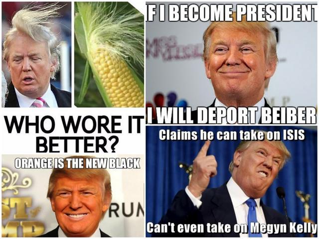 Memes on Donald Trump.