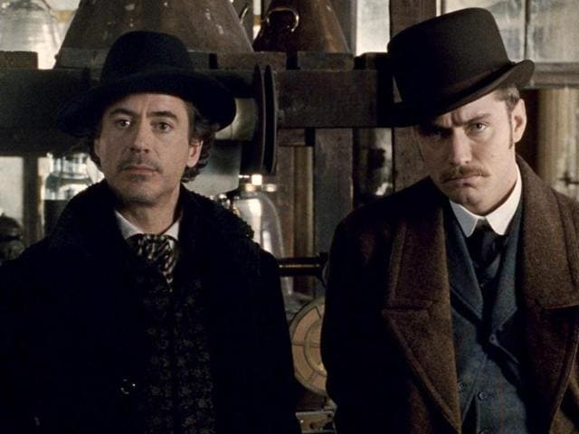 Downey stars alongside Jude Law in the movie. Law plays Dr John Watson.