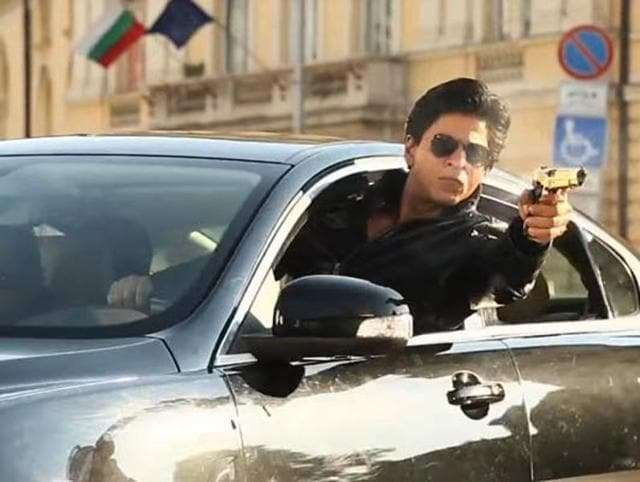 Shah Rukh Khan in a still from Dilwale.