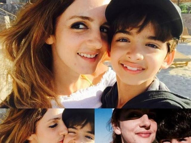 Sussane Khan posted this adorable pic on Instagram.