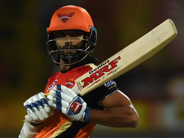 Sunrisers Hyderabad's Shikhar Dhawan plays a shot during the 2016 Indian Premier League(IPL).