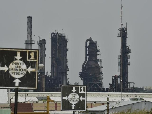 State-run oil giant Pemex's Pajaritos petrochemical plant in Coatzacoalcos, Mexico, after an explosion at the site killed at least 28 people.