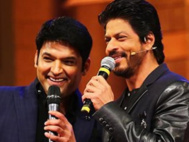 Kapil Sharma and Shah Rukh Khan in The Kapil Sharma Show. The first episode of the comedy show aired on Saturday.