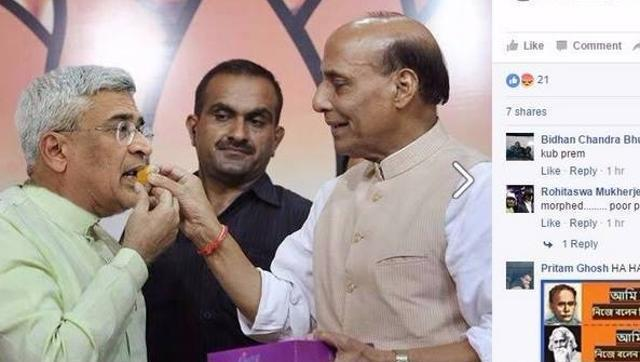 TMC courts controversy by posting morphed photo of Rajnath Singh