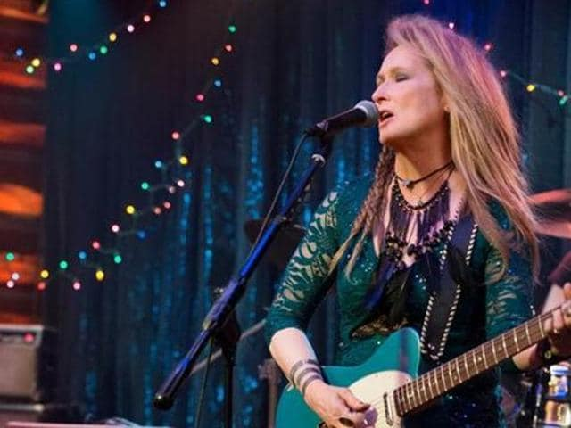 Meryl Streep in a still from the film Ricki and The Flash. (RickiAndTheFlash/Facebook)