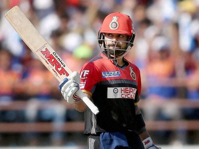 Virat Kohli hit 100 off 63 balls to power Royal Challengers Bangalore to 180/2.