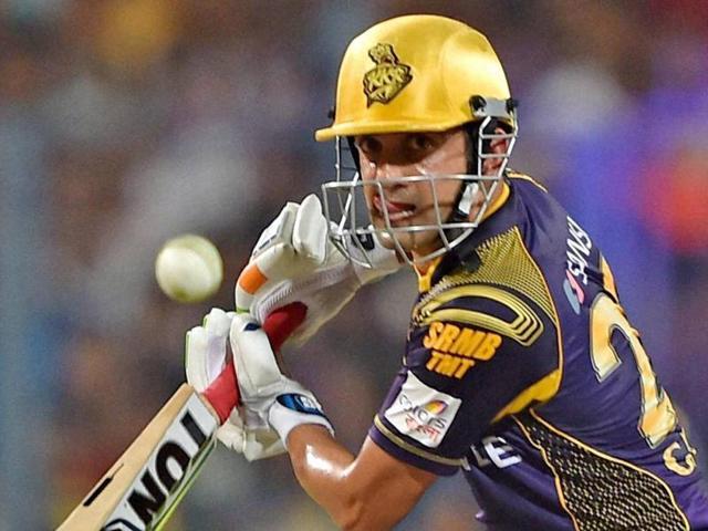 Kolkata Knight Riders cricketer Gautam Gambhir plays a shot during the 2016 Indian Premier League.